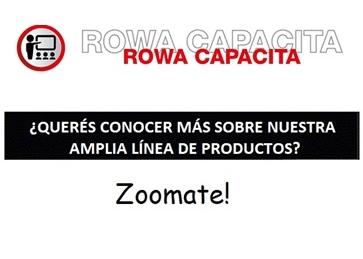 AGENDA AGOSTO - ROWA CAPACITA - NUEVOS HORARIOS